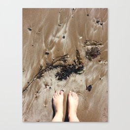 Sandy Toe Love Canvas Print