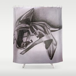 Calvin Klein Black Heels Shower Curtain