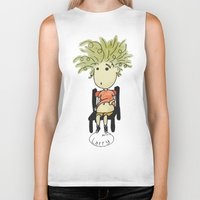 larry stylinson Biker Tanks featuring Larry by UberMondoClash
