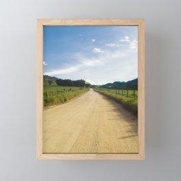 On The Road Framed Mini Art Print