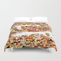 bees Duvet Covers featuring Bees by Rafaela Rodrigues