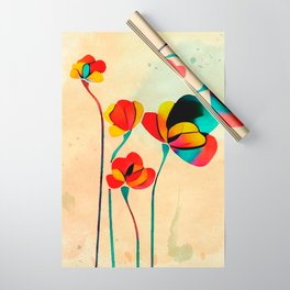 Exotic Watercolor Flower Wrapping Paper