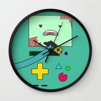 bmo Wall Clocks featuring Zom-BMO by Zeke Tucker