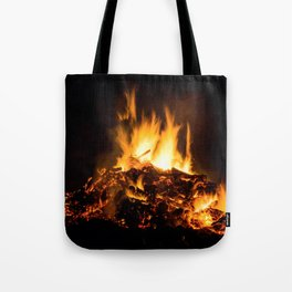 Fire flames Tote Bag