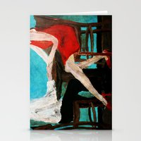 dress Stationery Cards featuring Red Dress by James Peart
