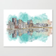 Pittsburgh Sunset Canvas Print