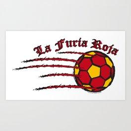 Spain La Furia Roja (The Red Fury) ~Group B~ Art Print