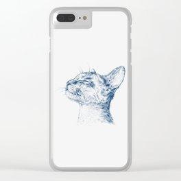 Cute chilling cat Clear iPhone Case