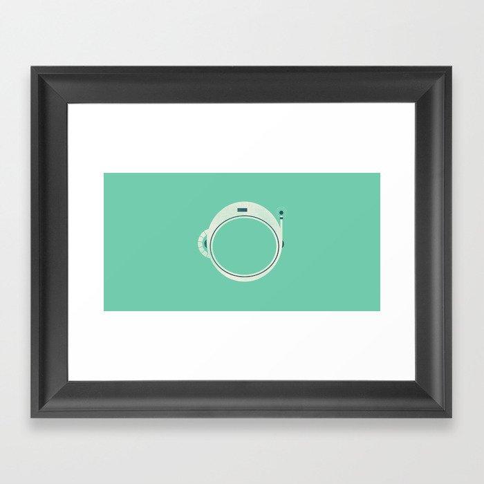 Spaceman Helmet Framed Art Print