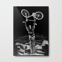 Bike Contemplation Metal Print