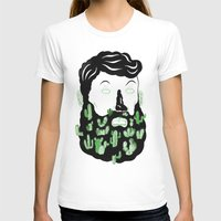 cactus T-shirts featuring Cactus Beard Dude by David Penela