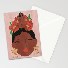 Conversation with the little voice Stationery Cards