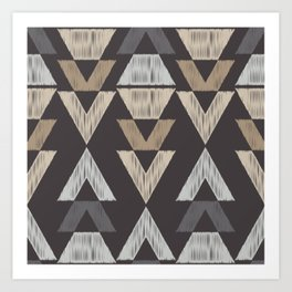 Brown Tribal Pattern Art Print