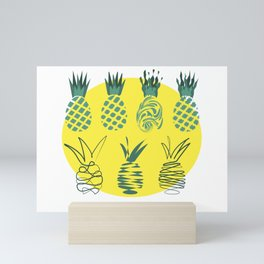 Pineapples group Mini Art Print
