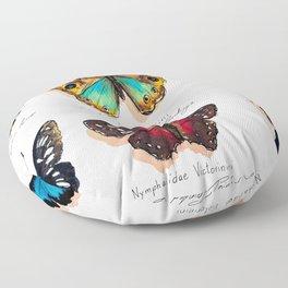 Nymphalidae butterflies Floor Pillow