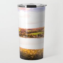 Cityscape Möhne From Reservoir Barrage Wall 2 bright Travel Mug