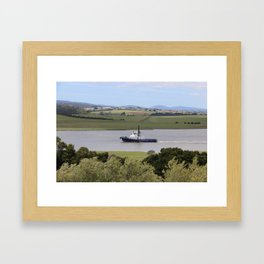Tug Motoring Down the Tamar* Framed Art Print