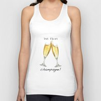 champagne Tank Tops featuring Champagne! by mJdesign