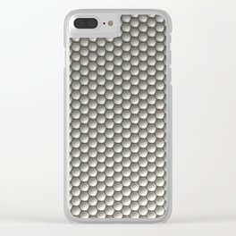 Pattern of white spheres Clear iPhone Case