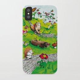 Animals wood iPhone Case