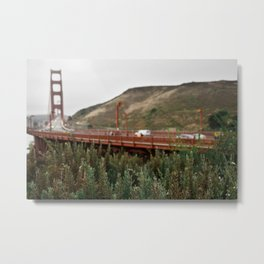 Gloomy Golden Gate Metal Print