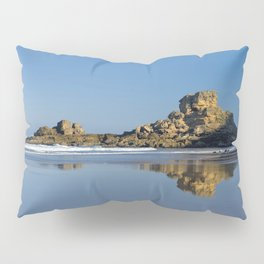 Rock formations on the Costa Vicentina, Portugal Pillow Sham