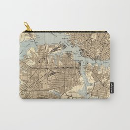 Vintage Norfolk & Portsmouth Virginia Map (1944) Carry-All Pouch