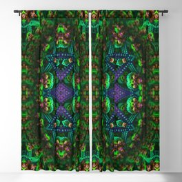 Psychedelic - Forest - Fractal - Manafold Art Blackout Curtain