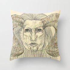 Horns Throw Pillow