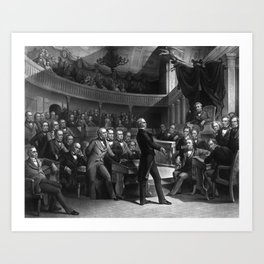 Henry Clay Speaking In The Senate Art Print