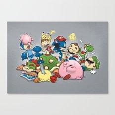 Smash Brawl Canvas Print
