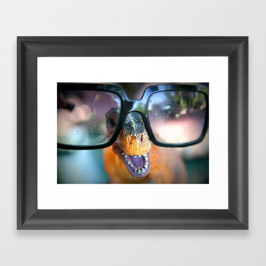 dino dude Framed Art Print