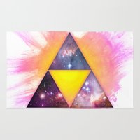 triforce Area & Throw Rugs featuring Cosmic Triforce by Spooky Dooky