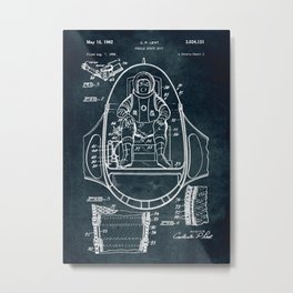 Space mobile suit Metal Print