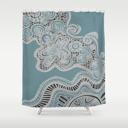 Just a Squiggle Here and There Shower Curtain