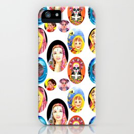 Ethnic Girls Hand Painted Pattern iPhone Case