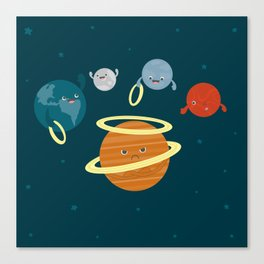 Saturn Ring Toss Canvas Print