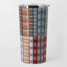 Square plaid pattern in classic style Travel Mug