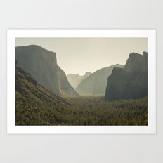 Yosemite Tunnel View Art Print
