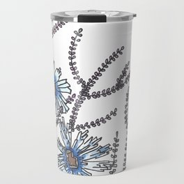Flower Garden Abstract Art Design Travel Mug