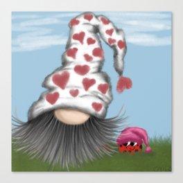 The Valentine Gnome  Canvas Print