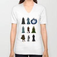 valar morghulis V-neck T-shirts featuring The Aratar by wolfanita