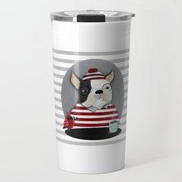 Waldo the Boston Terrier Travel Mug