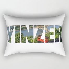 Yinzer Pittsburgh Incline Rectangular Pillow