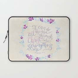 I Can Do All Things - Philippians 4:13 Laptop Sleeve