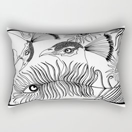 Peacocks and feathers Rectangular Pillow