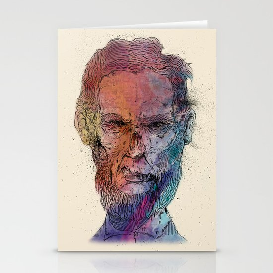 Zombie Lincoln Stationery Cards