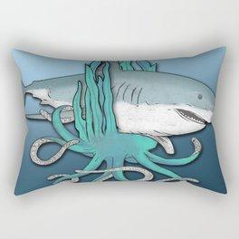 Octopus Bit The Great White Shark Rectangular Pillow