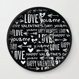 Love Pillows Wall Clock