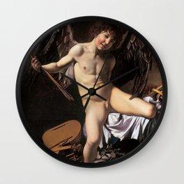 "Michelangelo Merisi da Caravaggio ""Amor Vincit Omnia"" Wall Clock"